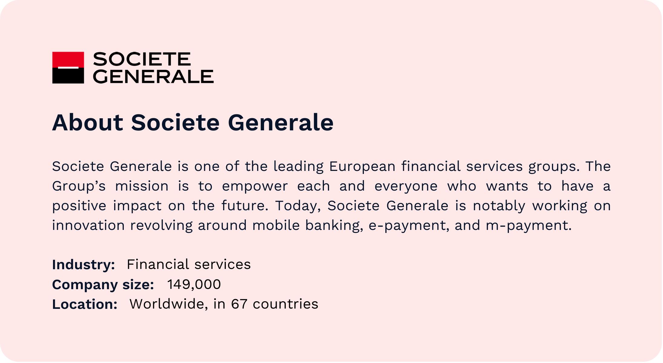 About Societe Generale